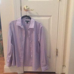 Lands' End, women's  no iron cotton dress shirt.
